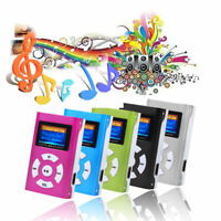 Mini MP3 Player USB Music Media LCD Screen Support 32GB Micro SD TF Card Slot
