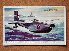 R&L Postcard: T E North, Valentine's Aeroplane Series No.1966 Saunders-Roe RAF