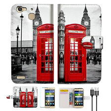 British phone Booth Wallet Case Cover For Huawei GR5 2017 Phone Case-- A024