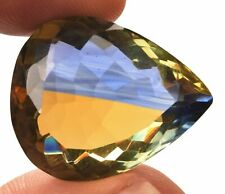 45.00 Cts. Natural Ametrine Blue & Yellow Pear Cut Certified Gemstone