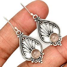 Sterling Silver Earring Jewelry Ae140921 284M New listing Rose Quartz - Madagascar 925