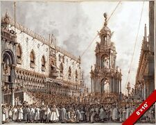 MARDIGRAS CARNIVALE IN VENICE ITALY WATERCOLOR PAINTING ART REAL CANVAS PRINT