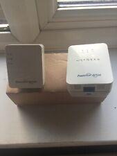 Netgear Powerline AV500 Wifi Expander SET Main Unit & Extender UK Plugs White