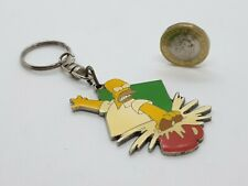 "RARE Vintage Official Homer Simpson Key ring,Extreme DUNKIN"" DONUTS, Metal,FPOST"