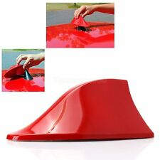 Shark Fin Roof Antenna Aerial FM/AM Radio Signal Decoration Car Red Replacement