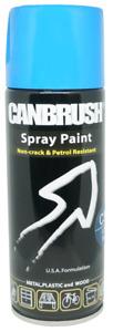 Canbrush C37 Light Blue Spray Paint 400ml Metal Plastic Wood Petrol Resistant