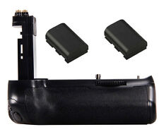 Battery Grip Pack Holder + 2x 1600mAh LP-E6 For Canon EOS 7D mark II DSLR Camera