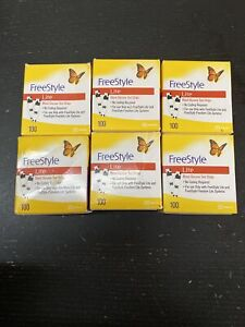 600 Freestyle Lite Diabetic test strips
