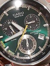 💯Casio Edifice Men's 100m. Stainless Steel Watch EF-510D-3AVDF GREEN Dial💥👌