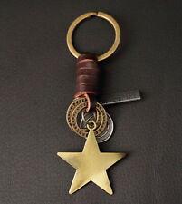 AuPra Good Luck Star Keyring | Leather Man Keychain | Women Pendant Gift