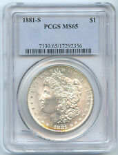 USA Etats-Unis Morgan Dollar 1881 S San Francisco PCGS MS65