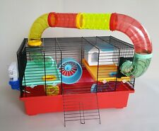 Syrian Hamster Mouse Cage Mice Hutch Rodents Animal House Wheel Water Bottle Pet