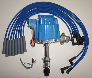 OLDSMOBILE 260,307,350,403 & 455 BLUE HEI DISTRIBUTOR & 8mm SPARK PLUG WIRES USA