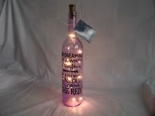 LIGHT UP CHRISTMAS QUOTE WINE BOTTLE