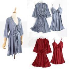 Women Sexy Lace Robe & Gown Sets Sleep Nightwear Bathrobe Night Dress Sleepwear