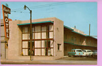 Postcard CA Becks Motel San Francisco California Harrison Street 1950's Old Cars