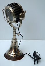 Nautical table lamp studio searchlight spotlight lamp w/ wooden base home decor