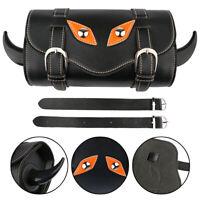 Satteltasche Lenkertasche Gepäck tasche Gabel Bag für Harley 883 Yamaha schwarz