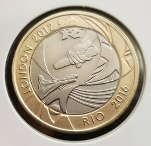 LONDON 2012 TO RIO 2016  OLYMPICS HANDOVER 2Pound Coin FREE COIN CAPSULE In