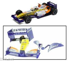Scalextric W9712 Renault 2008 F1 Rear Wing Spoiler Barge Board Nose Cone C2863