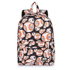 Disney Store Loungefly Bb-8 Backpack Star Wars Droid School Hand Laptop Bag Tote