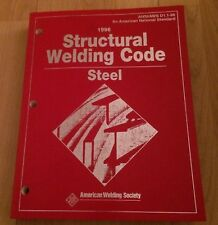 Used 1996 Structural Welding Code Steel ANSI/AWS D1.1-96 Softcover 440 Page Book