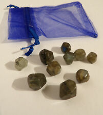 Labradorite Polygon Gems 10g pack of 10 small polished stones Pirate Treasure