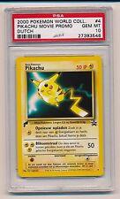 2000 Pokemon World Collection #4 Pikachu Movie Dutch PROMO PSA 10 GEM MINT