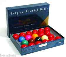 "New Belgian Aramith Tournament of Champion Snooker Balls  2 1/16"" - NO NUMBERS"