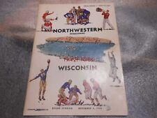 Vintage 1949 Northwestern vs Wisconsin Football Program November 5 1949