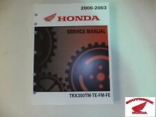 GENUINE HONDA SERVICE SHOP MANUAL HONDA TRX350 RANCHER ALL MODELS 2000-2003 NEW