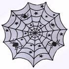 Vintage Fête Halloween Araignée Dentelle Nappe Toile D'araignée Dîner Vaisselle