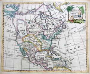 NORTH AMERICA USA  BY DE LAPORTE  c1786  SCARCE GENUINE ANTIQUE ENGRAVED MAP