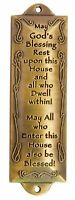 1 X Bless This House Brass Mezuzah with Hebrew Parchment in Gift Box & Placem...