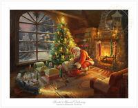 Thomas Kinkade Studios Lionel Santa's Special Delivery 18 x 24 S/N LE Paper