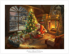 Thomas Kinkade Santa's Special Delivery 12 x 16 G/P Limited Edition Paper Lionel