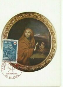 Card Postal CEF 1er Day France Picture of Mignard Cross Red 1969