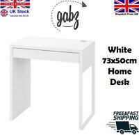 GABZ 73x50cm White Computer Desk with Drawer | Home Office Workstation Table