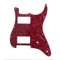 Red Pearl Guitar Pickguard HH(2 Humbucker)3 Ply For Fender Strat Replacement