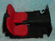 1/18 SCALE PARTS & ACCESSARY SET OF 2 LOW BACKED BUCKET SEATS IN RED NO BOX.