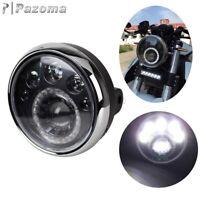 "Emark 7"" Motorcycle Round Headlight LED Head Lamp Running Light High Low Beam"