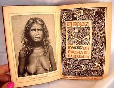Vintage 1900-29 & 30 Hardcover Book-Ethnology-Michael Haberlandt-Great Shape