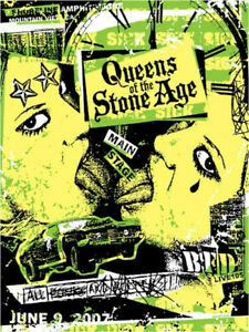 QUEENS OF THE STONE AGE CONCERT GIG POSTER 2007 - NEW