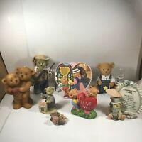 Lot of 7 Bear Figurines Candle Nightlight Shelf Sitter