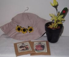 Custom Made Garden Set sized American Girl Dolls-seed packets Sunflower Hat Pot