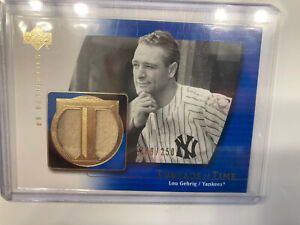2003 Upper Deck Yankees Lou Gehrig Game Worn Jersey Stitching and Stripe RARE!