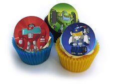 24 Muffin / Cupcake Transformers Rescue Bots Gateau Disque Azyme Comestible