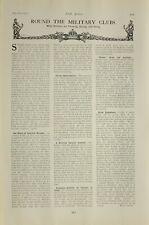 1903 Imprimé Bleu Marine & Armée Éditorial News