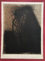 Michael Morgner, Angst, Aquatintaradierung, 1992, handsigniert und datiert