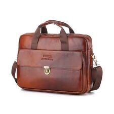 Herren Tasche Echt Leder Aktentasche Schultertasche Umhängetasche Handtasche